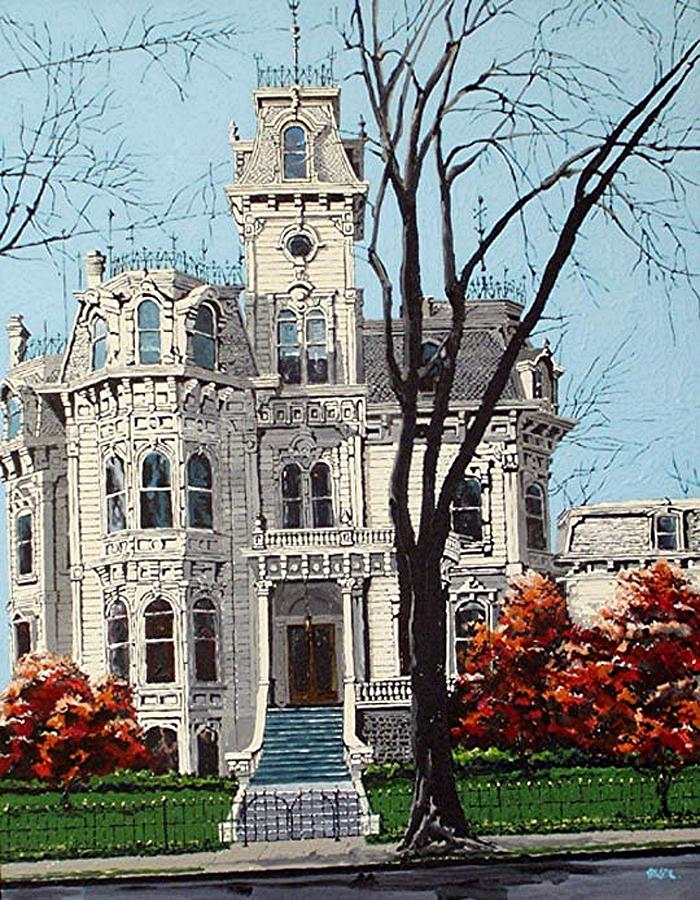 Sacramento Painting - Governors Mansion by Paul Guyer