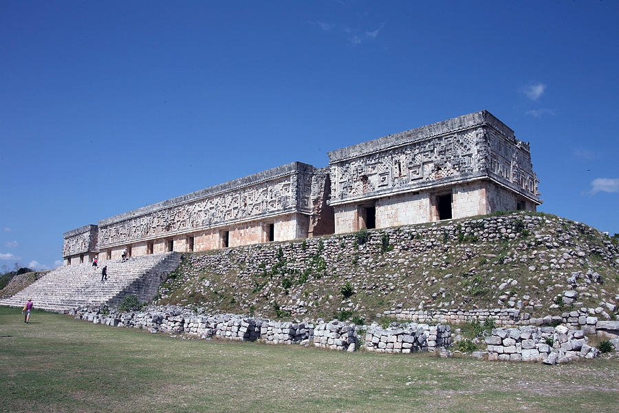 Mexico Photograph - Governors Palace Uxmal by Al Blount