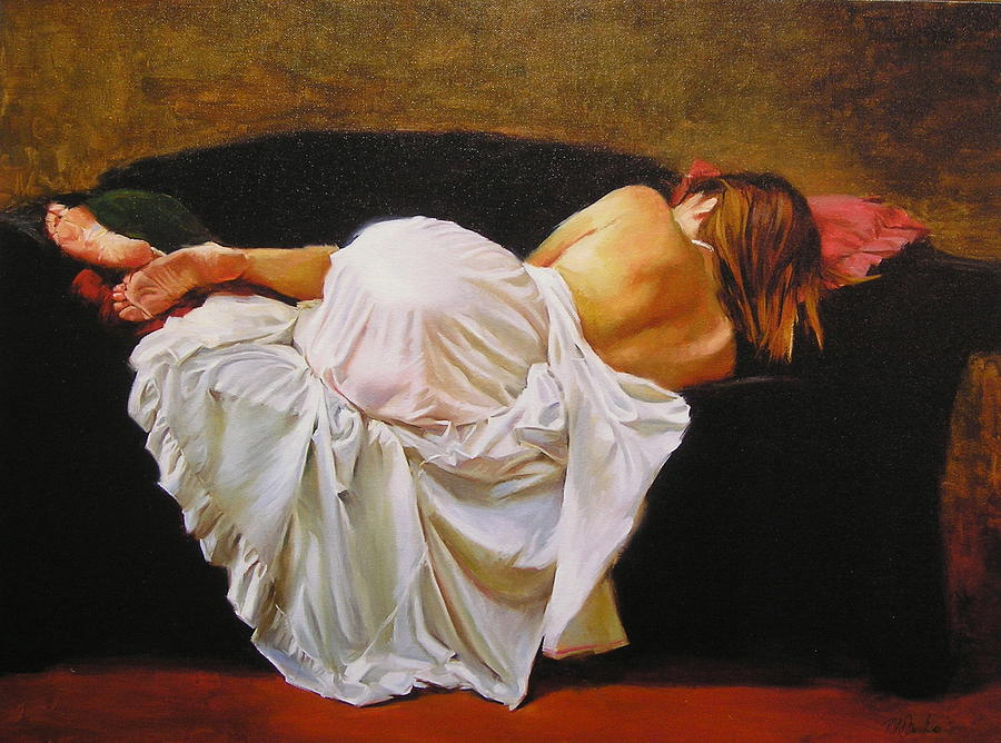 Reclining Figure Painting - Gowned by Ron W McDowell