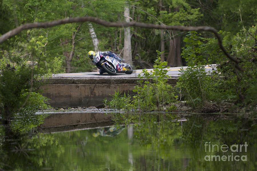 Motorcycle Photograph - Superbike On Creek Bridge by Doug LaRue