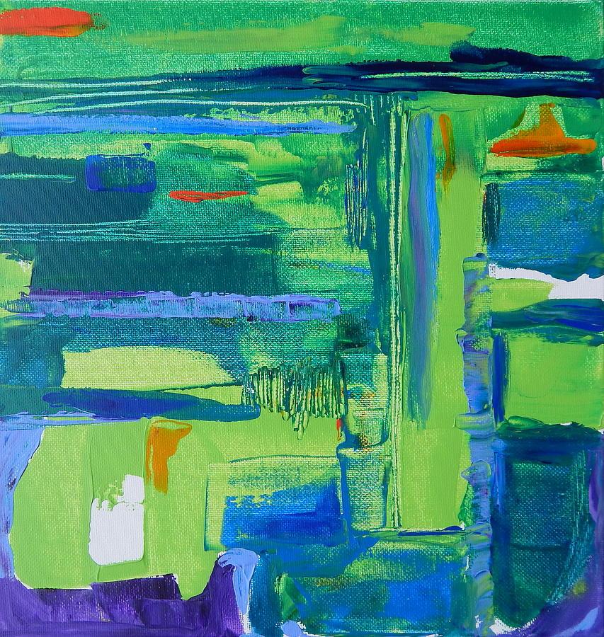 Horizon Painting by Priscilla Batzell Expressionist Art Studio Gallery