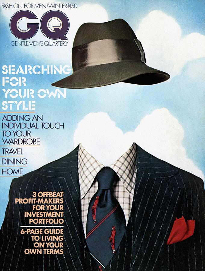 Gq Cover Featuring A Clothes On Top Photograph by  Victor Valla & Eric Meola