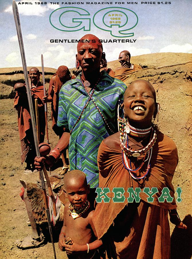 Gq Cover Featuring A Group Of Massai People Photograph by Horn & Griner
