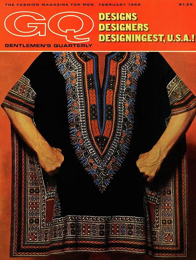 Gq Cover Featuring A Male Model Wearing A Dashiki Photograph by Leonard Nones
