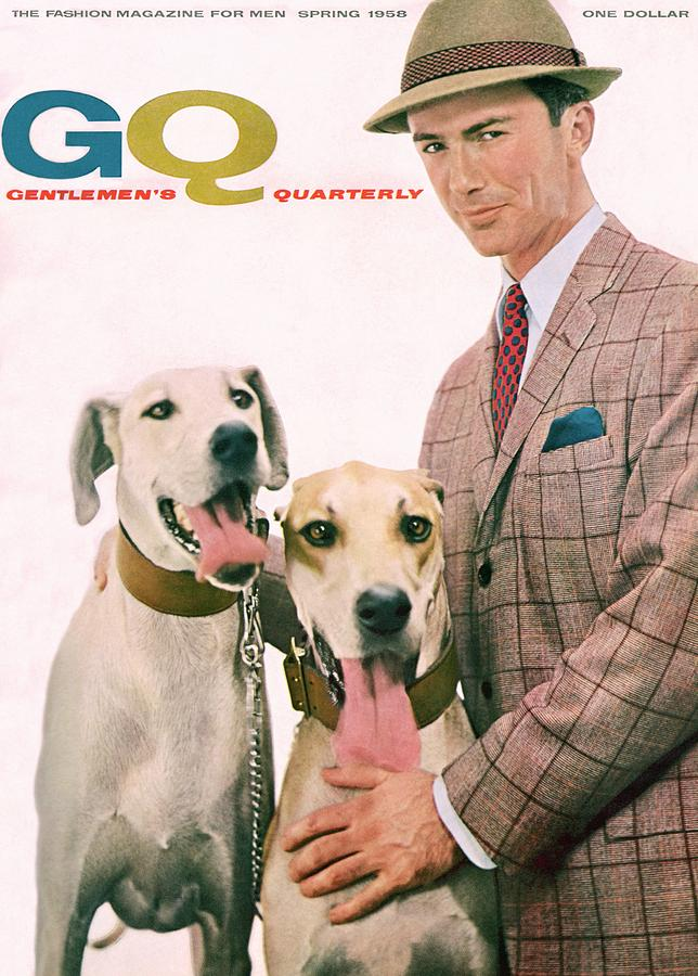 Gq Cover Featuring A Male Model With Dogs Photograph by Emme Gene Hall
