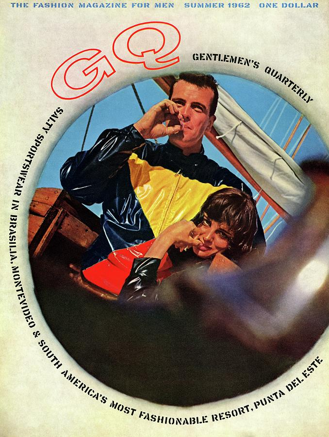 Gq Cover Featuring A Model Wearing A Plastic Photograph by Chadwick Hall