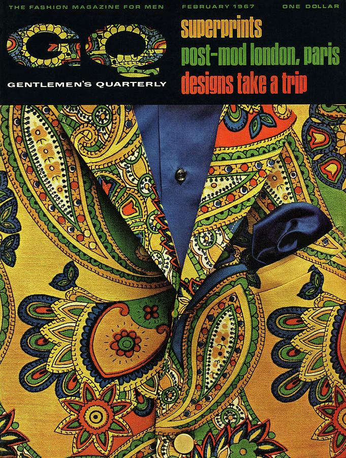 Gq Cover Featuring A Paisley Jacket Photograph by Leonard Nones