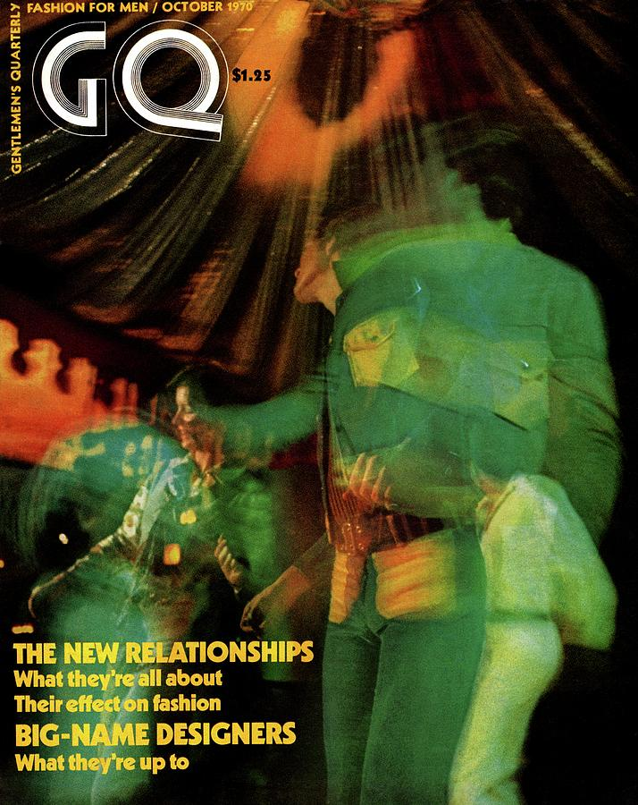 Gq Cover Featuring A Photograph Taken At A Disco Photograph by Mark Patiky