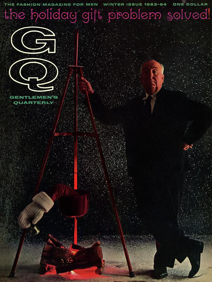 Gq Cover Featuring Alfred Hitchcock Photograph by Carl Fischer