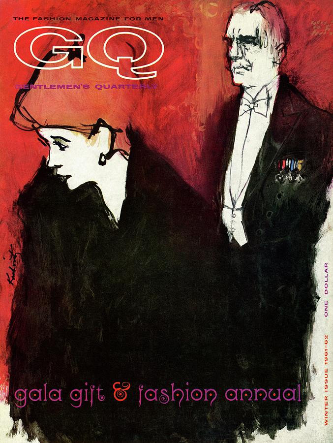 Gq Cover Featuring An Illustration Of A Couple Photograph by Harlan Krakovitz