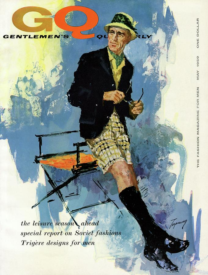 Gq Cover Featuring An Illustration Of A Man Photograph by Howard Terpning