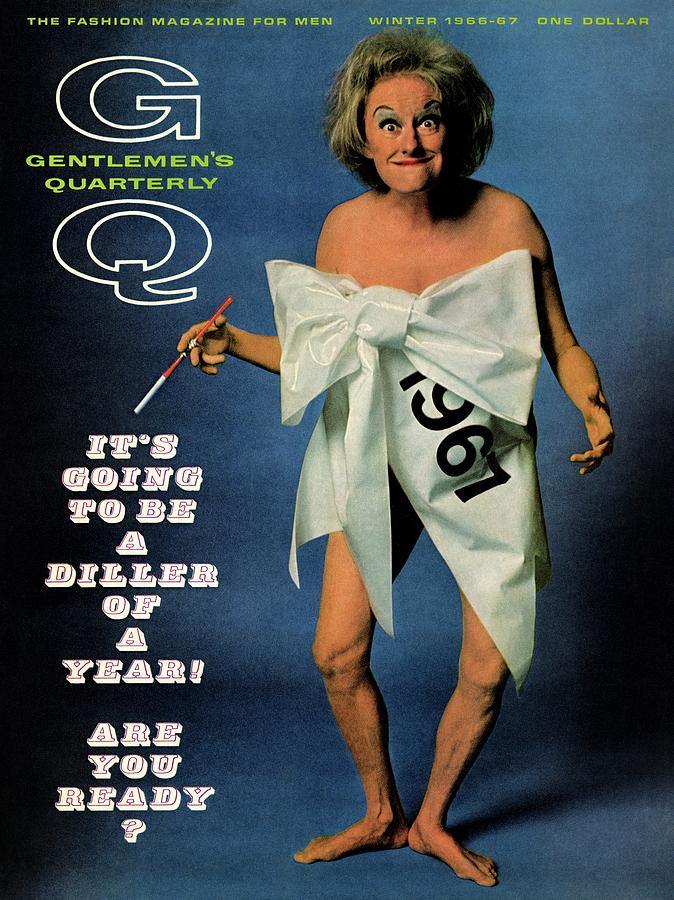 Gq Cover Featuring Comedienne Phyllis Diller Photograph by Carl Fischer