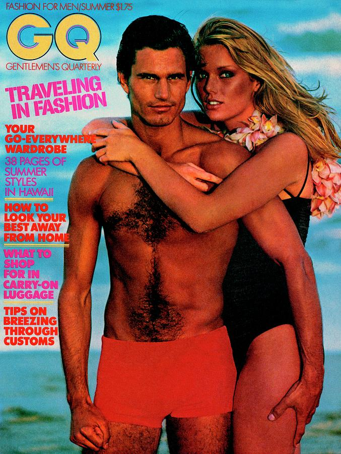 Gq Cover Featuring Patti Hansen And A Male Model Photograph by Barry McKinley