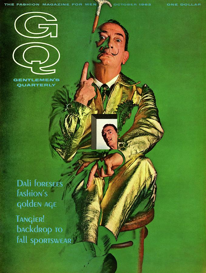 Gq Cover Featuring Salvador Dali Photograph by Chadwick Hall