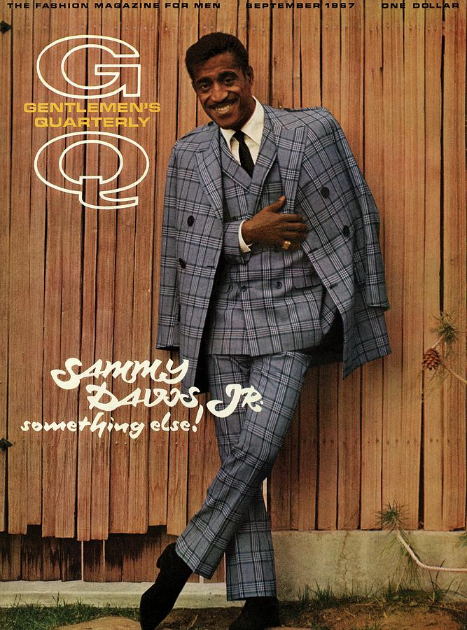 Gq Cover Featuring Sammy Davis Jr Photograph by Milton Greene