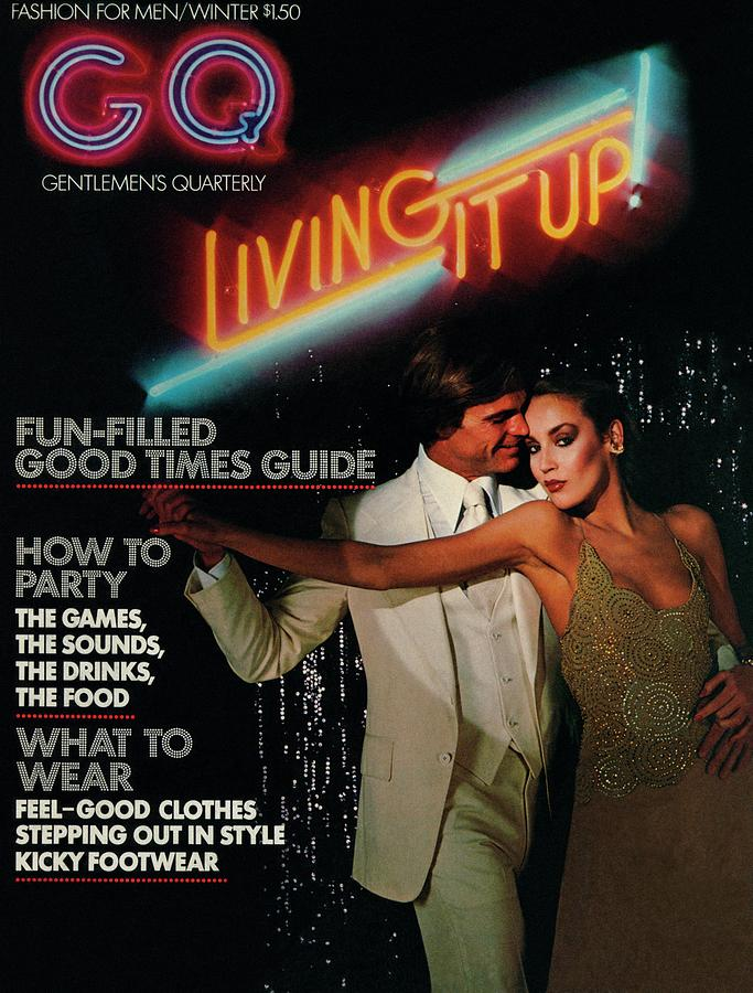 Gq Cover Of A Couple In Disco Setting Photograph by Chris Von Wangenheim