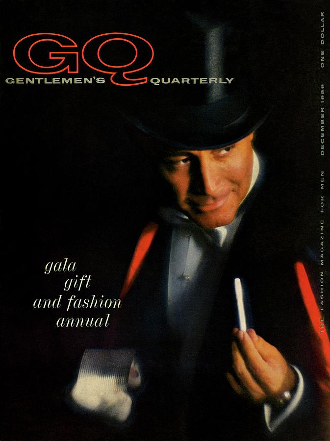 Gq Cover Of A Model Wearing Top Hat And Tailcoat Photograph by Casele-Chadwick