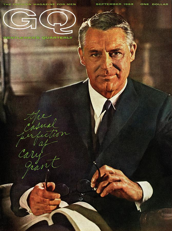 Gq Cover Of Actor Carey Grant Wearing Suit Photograph by Chadwick Hall
