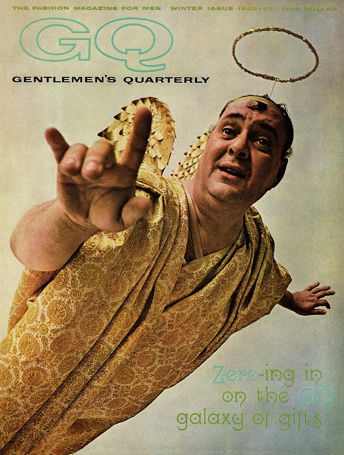 Gq Cover Of Actor Zero Mostel In An Angel Costume Photograph by Art Kane