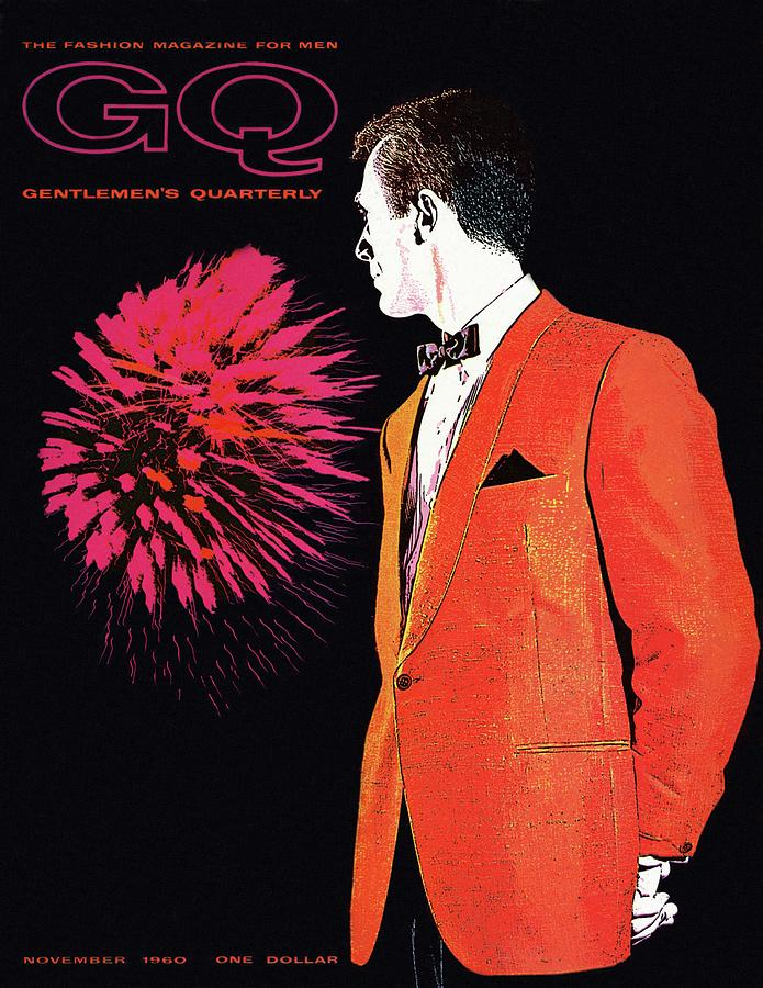 Gq Cover Of An Illustration Of A Man Wearing An Photograph by Leon Kuzmanoff