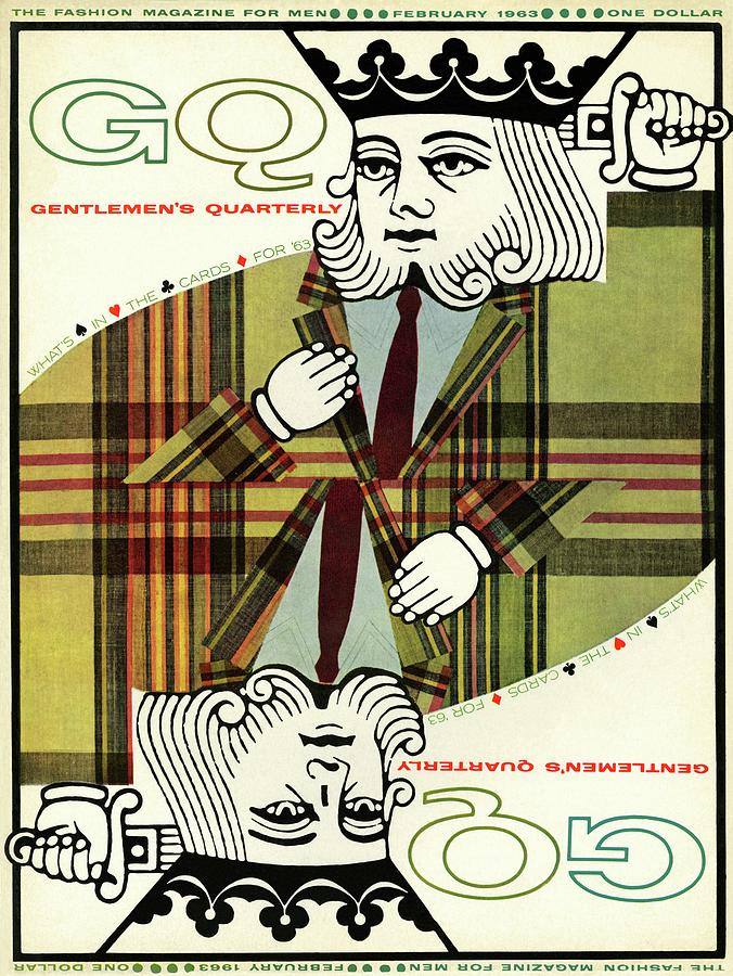 Gq Cover Of An Illustration Of King Playing Card Photograph by Greenberg & Smith