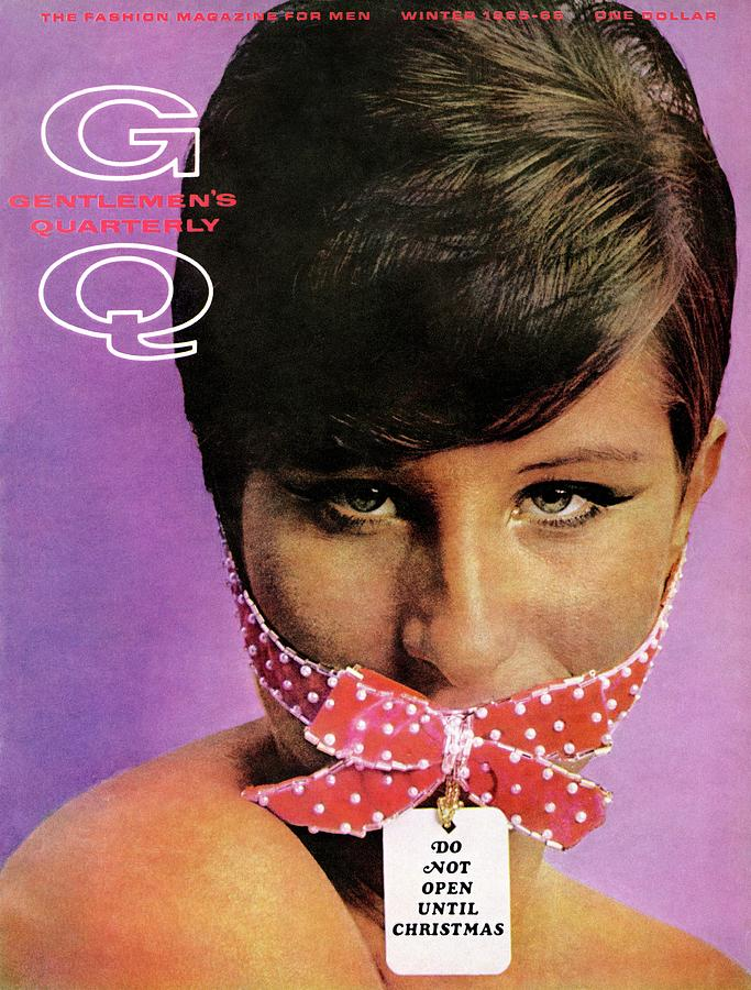 Gq Cover Of Barbra Streisand Gagged Photograph by Carl Fischer