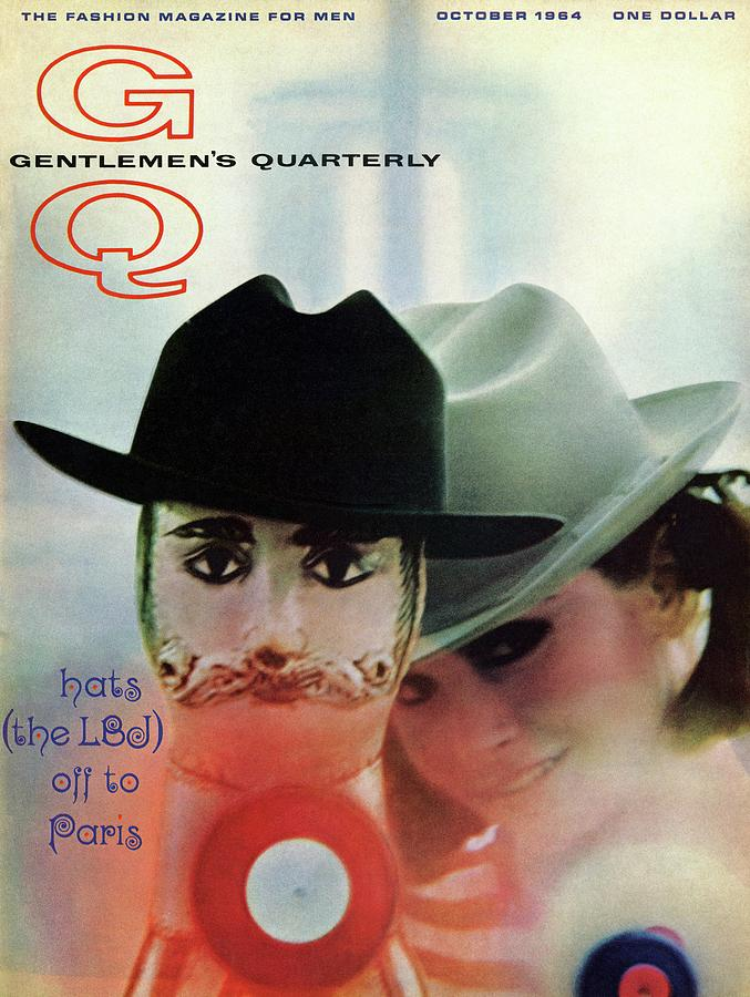 Gq Cover Of Mannequin Head And Female Model Photograph by Reid Miles