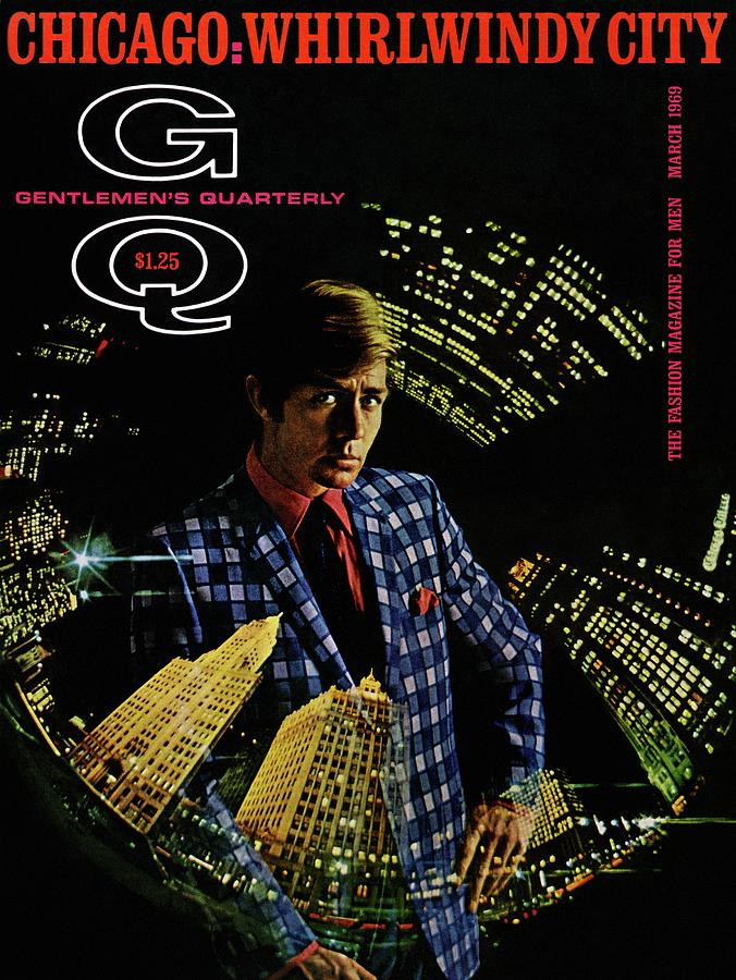 Gq Cover Of Model Wearing A Louis Roth Jacket Photograph by Leonard Nones
