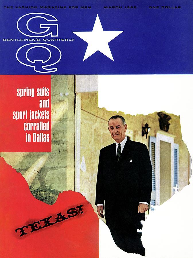 Gq Cover Of President Lyndon B. Johnson Photograph by Leonard Nones