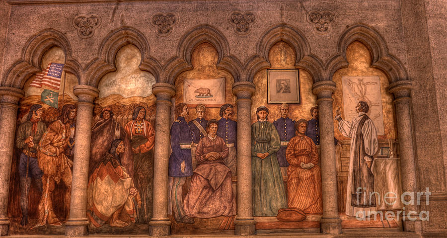 San Francisco Photograph - Grace Cathedral Mural by David Bearden
