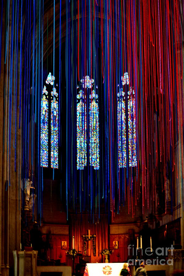 Grace Cathedral Photograph - Grace Cathedral With Ribbons by Dean Ferreira