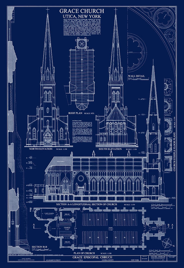Grace church blueprint digital art by daniel hagerman grace church digital art grace church blueprint by daniel hagerman malvernweather Gallery