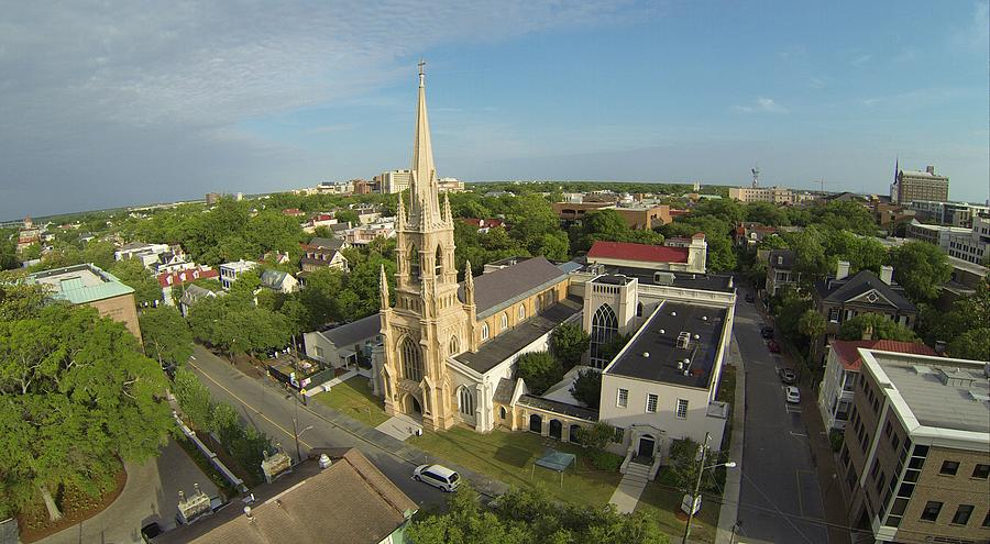 Charleston Photograph - Grace Church by Rick Lecture