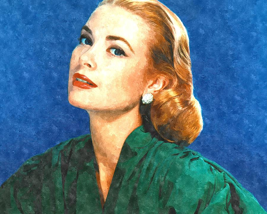 Grace Painting - Grace Kelly Painting by Gianfranco Weiss