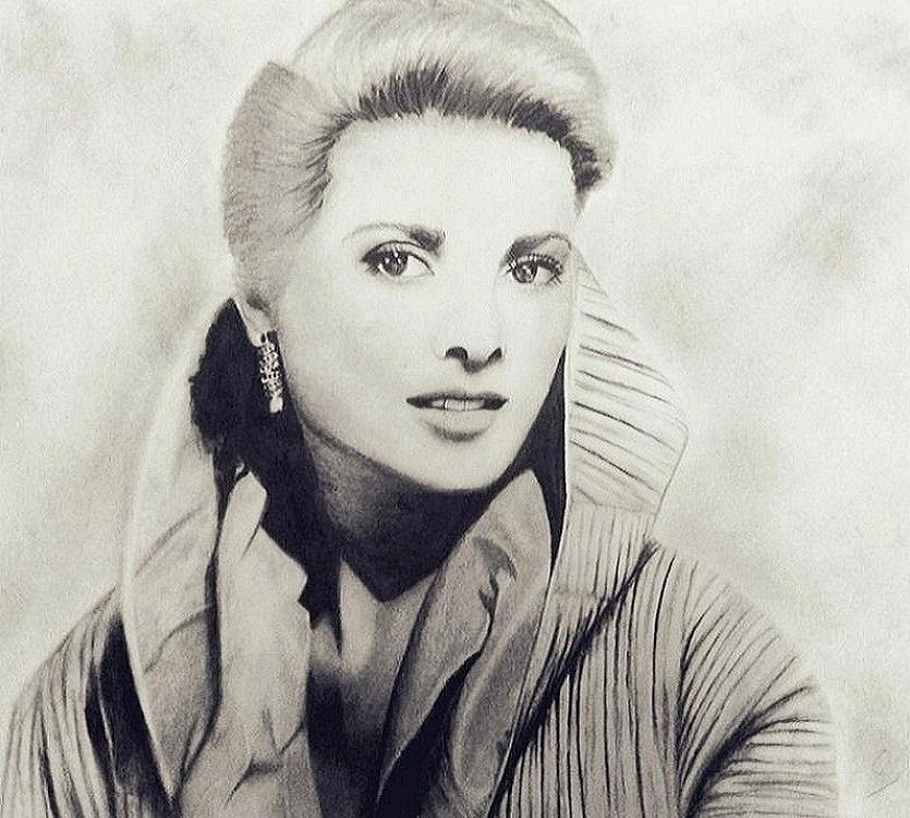 Grace Kelly Portrait Drawing - Grace Kelly by Sarah Mirza