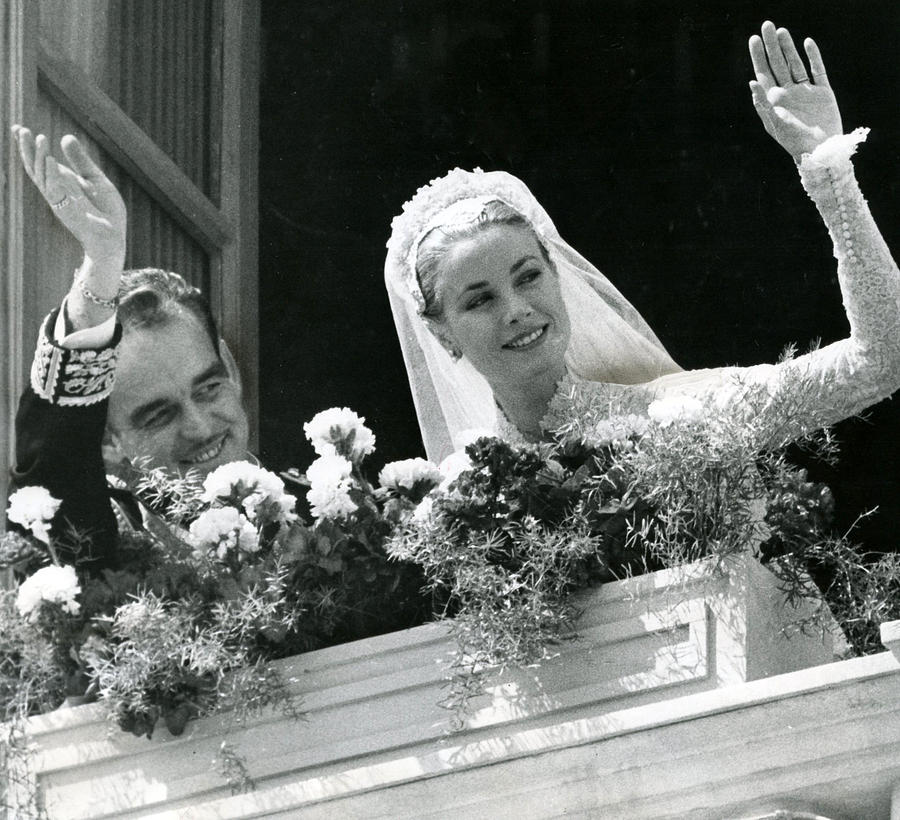 Retro Images Archive Photograph - Grace Kelly Waves by Retro Images Archive