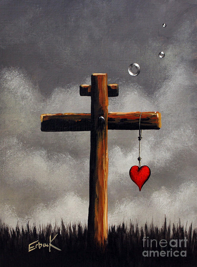 God Painting - Grace Lives Here By Shawna Erback by Shawna Erback