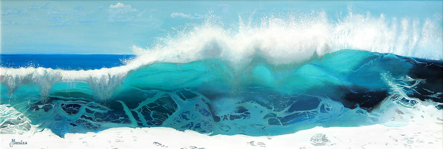 Wave Painting - Grace by Maritza Tynes