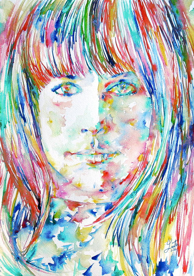 Grace Slick Painting By Fabrizio Cassetta