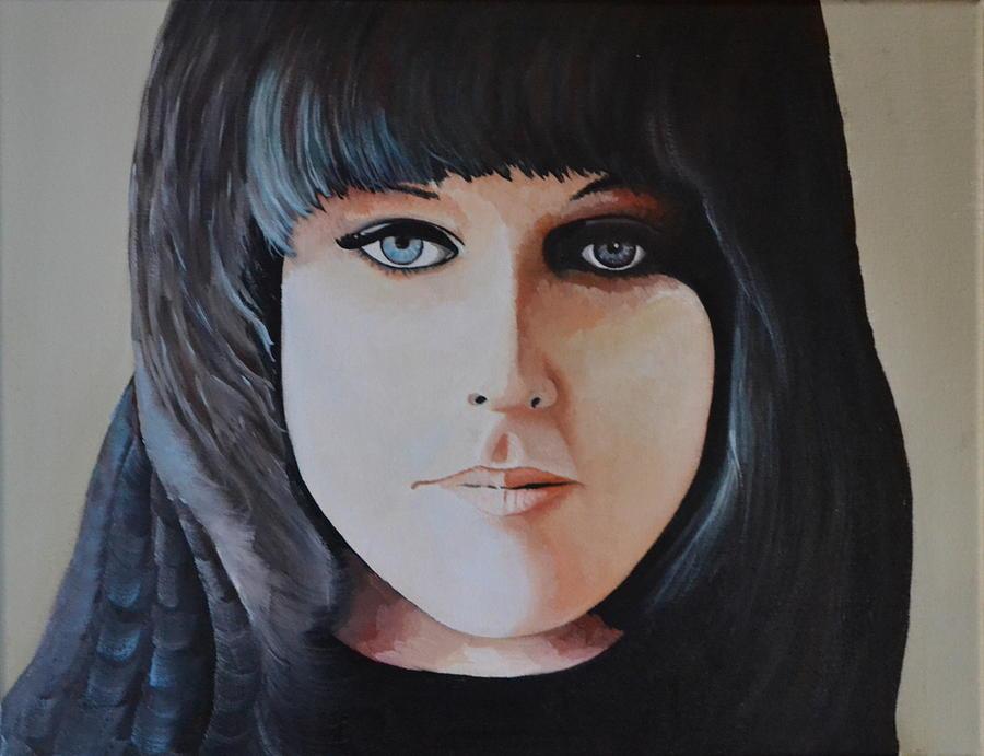 Grace Slick Painting by Martin Schmidt