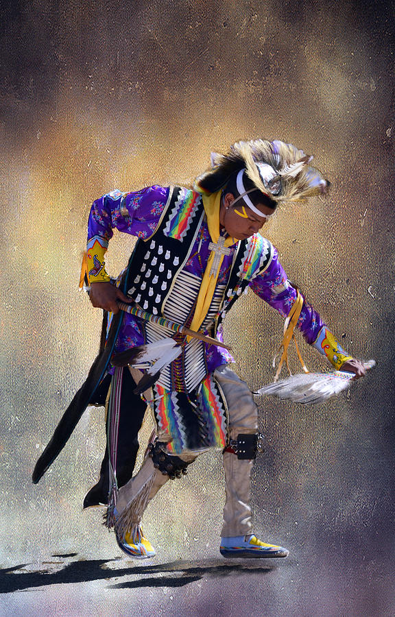 Native American Photograph - Graceful And Strong by Barbara Manis