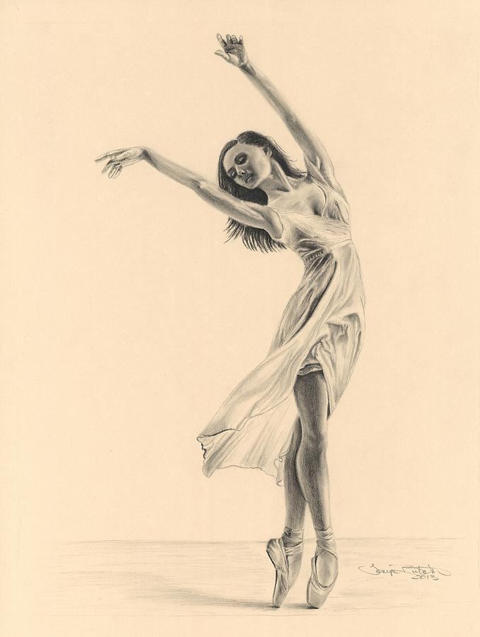 Graceful Dancer Drawing By Tonya Butcher