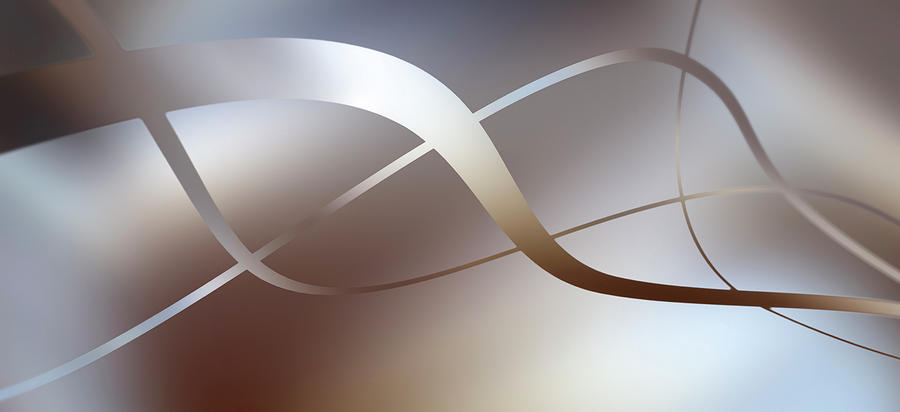 Graceful Lines Intertwined Digital Art by Ralf Hiemisch