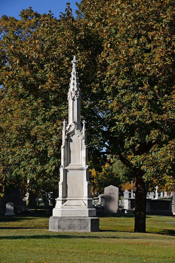 Graveyard Photograph - Graceland Cemetery - Garden Of The Dead by Christine Till