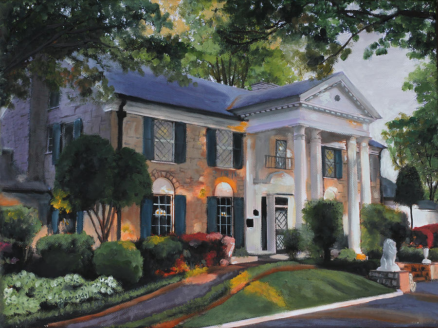 Graceland Home Of Elvis Painting by Cecilia Brendel