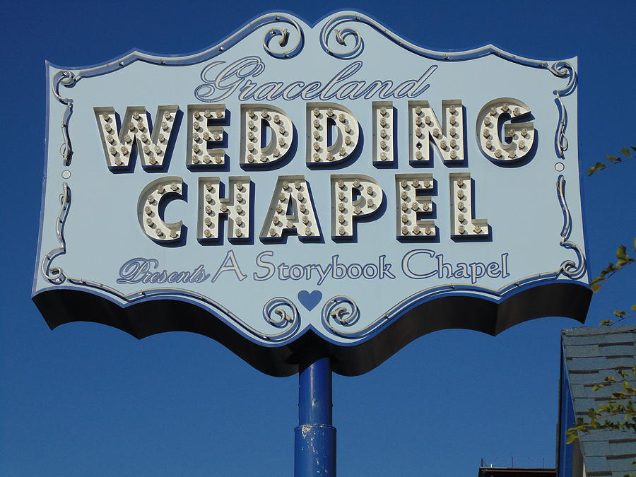 Graceland Wedding Chapel.Graceland Wedding Chapel Sign By Dotti Hannum