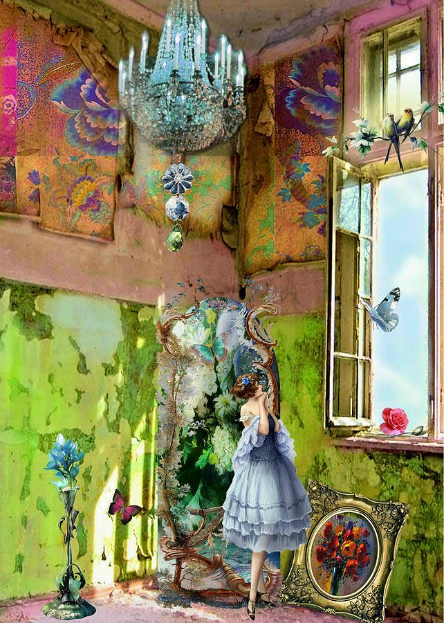 Digital Digital Art - Graces Window by Laura Botsford