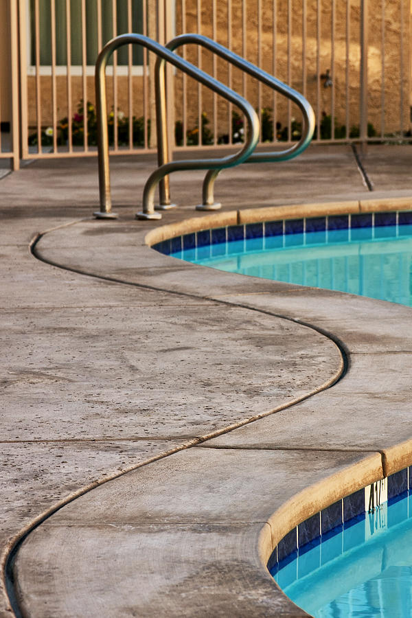 Swimming Pool Photograph - Gracious Curves Palm Springs by William Dey