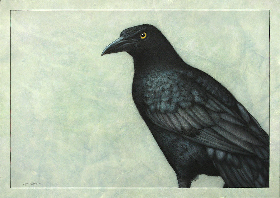 Grackle Painting - Grackle by James W Johnson