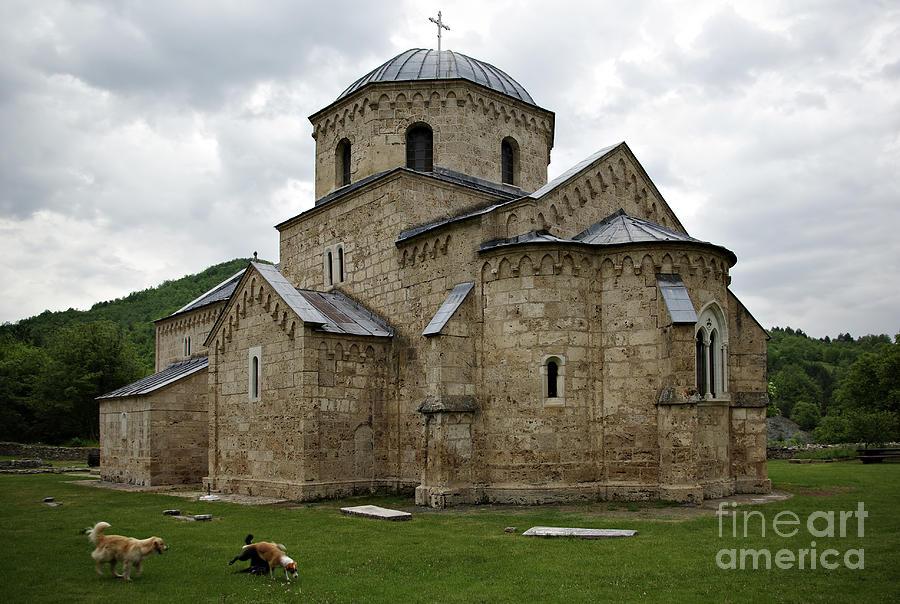 Ancient Photograph - Gradac Monastery by Zoran Berdjan
